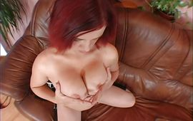 Lusty redhead Jana is getting her tight box satisfied doggystyle