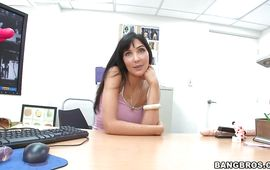 Cute brown-haired minx Diana Prince spends some nice time with her stranger