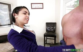 Inviting Ada S with round natural tits she started groaning from joy