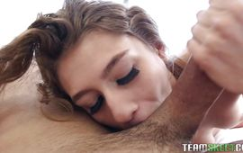 Pal gives heavenly brown-haired Rebel Lynn a very special sex tool