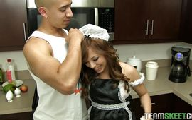 Cute maiden Aurora Monroe is cheating on with boy and enjoying each single second of it