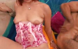 Marvelous latin redhead Yahaira with perky boobs getting her pussy fucked unfathomable