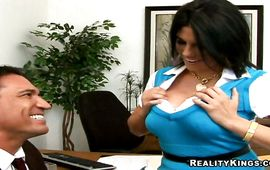 Luxurious minx Charisma Cappelli receives a thick boner in doggystyle