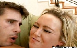 Wonderful blond Abbey Brooks loves to ride buddy