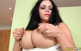 Adorable girlfriend Shione Cooper gets her skinny twat drilled by a thick rod