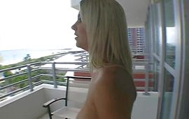 Cute blond maid Ashlynn Brooke has her skinny cunt pounded hard