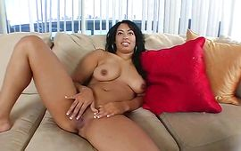 Insatiable latin Aliana Love gets roughly dicked doggy style