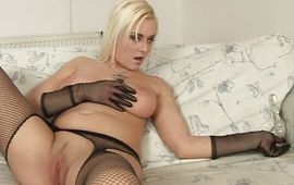 Lovable blonde Niki reaches a large and hard large o