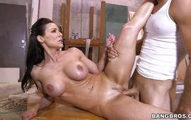 Sugary woman Kendra Lust came home from work and the first thing she did was to suck buddy's prick