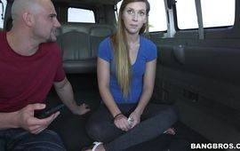 Overwhelming brown-haired girlfriend Kaylee Banks wanted this skinny jim so bad