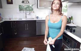 Dissolute Bianca rides a large pecker like a pro she is