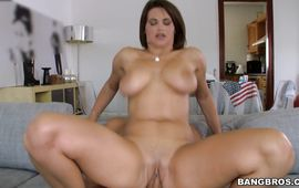 Glamor latin gal Cinthya Doll and stud are fucking like 2 wild animals all day and all night