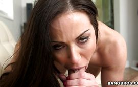 Voluptous dark-haired diva Kendra Lust is amazing and reaches a massive agonorgasmos