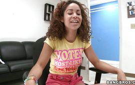 Slutty latin girl Mercedes Cash felt like screaming from pleasure while getting fucked but she tried not to
