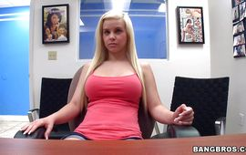 Stupendous blond Whitney Taylor is making love with man she can't live without a lot