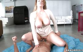 Blond Kali West is kinky and ready to be roughly plowed