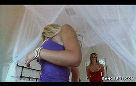Spicy blond girlie Mackenzee Pierce with unfathomable throat is getting fucked after she sucked fang like a pro