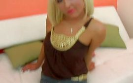 Blond Patricia Petite is overwhelming and ready for some intense act