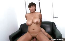 Astonishing Reina is eagerly sucking a huge pecker cuz she wants to get fucked hard