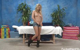 Extraordinary golden-haired diva Casi James fiercely sucks and rides a big meat bazooka
