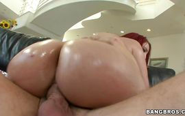 Racy Kelly Divine with large tits can't live without to feel something large in her poontang