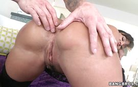Sweet Lisa Ann is riding mate's rod like a pro wench and enjoying it