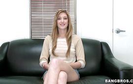 Lascivious brown-haired Casana Lei is having gentle sex in front of the camera just for fun